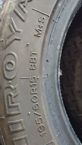 195/60R15 Uniroyal Tiger Paw with less than 500 kilometers