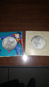 2015 20$silver coin Superman& Bugs Bunny