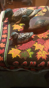3 wood hand carved ducks ..$45 for all 3 Downtown-West End Greater Vancouver Area image 1