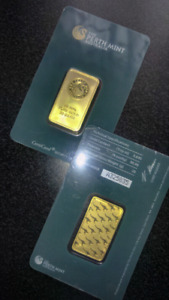 2x20g Perthmint gold bars