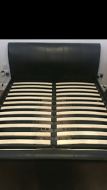 Faux leather sliye bed frame in great condition