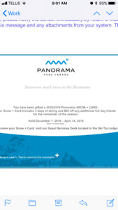 Panorama 3 full day ski card