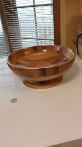 Hand crafted segmented wooden bowl