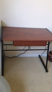 A desk with 3 part as a computer ,reading and bookshelf $100