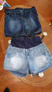 Maternity skirt and shorts M/L
