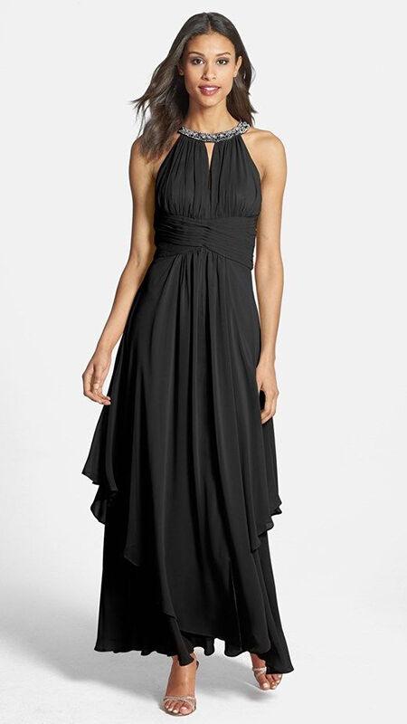 The full-length halter dress