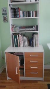 Bureau et étagère