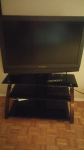 "Olevia 52"" TV with TV stand mount"