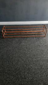 Copper 10 pair shoe rack