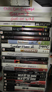 Psp games 25+ games/movies