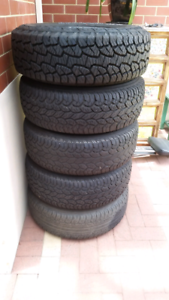 4x4 All terrain tyres 245/70R and 16 inch rims