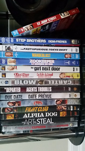 bunch of DVD's and 1 BLU-RAY