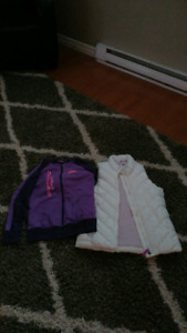 Girls size 10-12 hoodie and vest