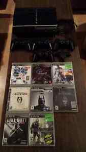 Sony Playstation 3 - 80G w/ games, controllers
