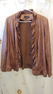 "For Sale: LauraPLUS size 16 ""faux leather look"" brown Jacket"