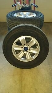 "OEM 17"" Aluminum Rims and Good Years off a 2016 F150 (LIKE NEW)"