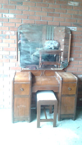 Waterfall vanity and bench