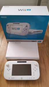 White 72GB wii u system like new with box CHEAP!