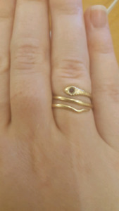 VINTAGE 10K Gold Snake ring from Unoaerre (Italy)