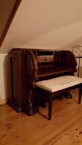 Reduced Antique Desk with stool