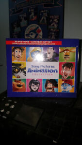 SONY  ANIMATION COLLECTION 10 -DVD MOVIE LUNCH BOX GIFT SET NEW