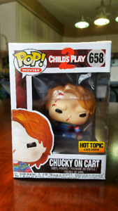 Chucky On Cart funko pop *HOT TOPIC EXCLUSIVE*