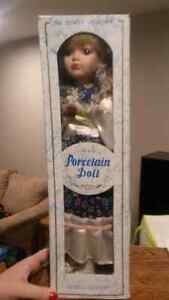 Princess Collection Porcelain doll.  NEW in original box