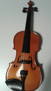 Violin Menzel 4/4 with Dominant strings and two carbon bows