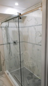 Shower glass door with install
