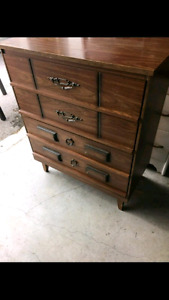 Retro 4 drawers dresser brown colour