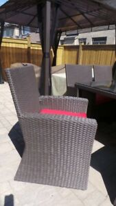 Patio wicker Dinning chairs only