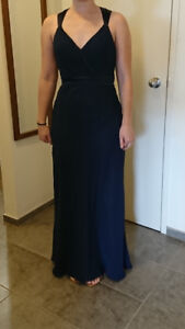 Navy Blue Bridesmaid Dress - Size 4