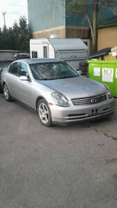 2004 INFINITI G35 6SPEED MANUAL