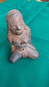 Ancient Meso American Terracota artifact flute statuette