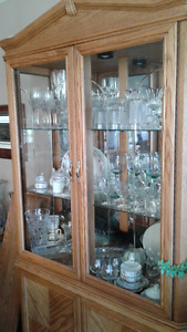 Oak China Cabinet - price reduced
