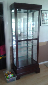 Solid Cherrywood glass display case