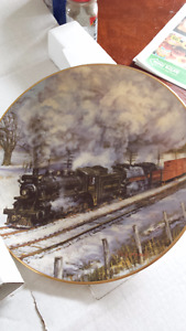 "Train collector plate,""FROSTY MORNING"""
