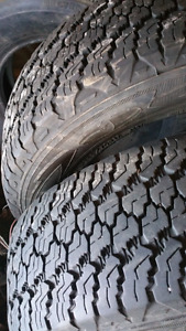 Two wrangler  245 75 R17  tires for sale