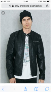 Only and sons biker jacket (large)