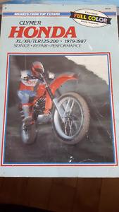 Clymer Honda XL/XR/TLR 125-200, 1979-1987