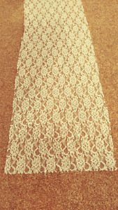 White table runner, lace