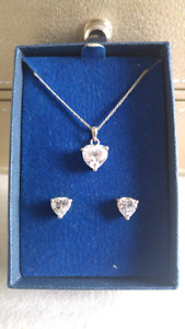 925 Sterling Silver Necklace and Earrings