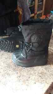 Kids Sorel Boots – Size 1 - Used for Snowmobiling Kitchener / Waterloo Kitchener Area image 1