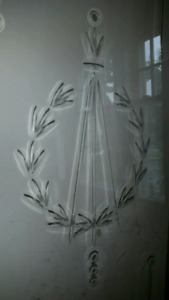 Antique Engraved Glass Doors