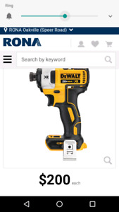 Dewalt MAX XR brushless impact driver &  double battery