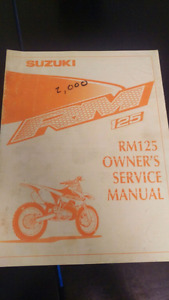 2000 Suzuki RM125 Owner's Service manual