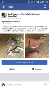 David's Bridal wedding high heels