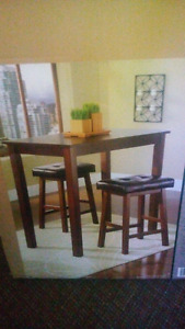3-piece counter height dining set brand new