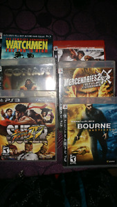 Games for PS3, PS2 and PSP