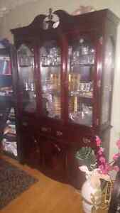 REAL CHERRY WOOD DISPLAY CABINET